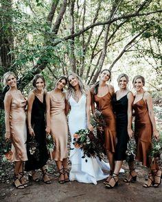 Slip Bridesmaids Dresses, Bridesmaid Dress Colors, Wedding Bridesmaids, Wedding Dresses, Slip Dresses, Cheap Dresses, Prom Dresses, Wedding Bells, Boho Wedding