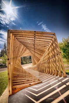 Denmark's EKKO Pavilion por Inhabitat Staff por Timber Architecture, Installation Architecture, Parametric Architecture, Pavilion Architecture, Parametric Design, Beautiful Architecture, Landscape Architecture, Landscape Design, Architecture Design
