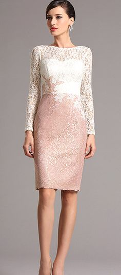 Long Sleeves Lace Mother Dress