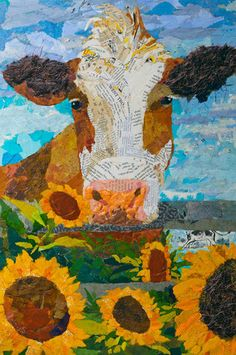 Red and White Holstein cow art – Cow Art and More