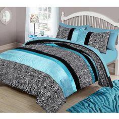 your zone teal animal bedding comforter set - Walmart.com