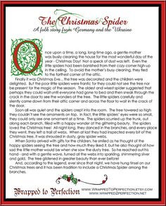 Clean image in legend of the christmas spider printable