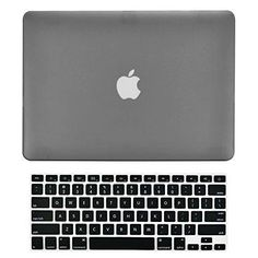"""TopCase 2-in-1 Rubberized Hard Case Cover and Keyboard Cover for Macbook White Unibody 13"""" (A1342 / Oct 2009 - 2011) with TopCase Mouse Pad (case NOT for 1st gen A1181 with mouse clicker) (Macbook White A1342 Gray)"""