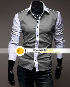 Camisa Social Masculina Bicolor   http://www.encomendaglobal.com/ProdutosDetalhes.php?Nome=Camisa-Social-Masculina-Bicolor=674611==googleps