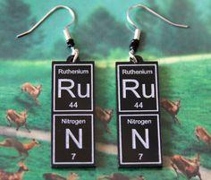 RuN   periodic table earrings