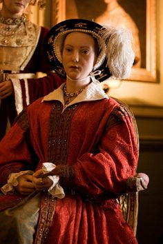Catherine Parr was Henry's 6th and last wife. Luckily he didn't live long enough to tire of her, though she had a couple of close calls... She survived to marry her sweetheart Thomas Seymour, but died in childbirth soon after.