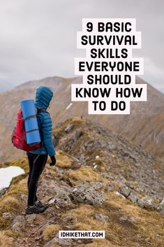 If you got lost or stuck while out hiking, would you know what to do. Check out 9 survival skills everyone should know how to do at idhikethat.com. These skills could save your life. #hiker #hike #survival #idhikethat