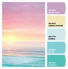 pastel sunset color palette