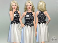 Evening Dress for Girls Found in TSR Category 'sims 4 Female Child Everyday' Kids Outfits Girls, Toddler Outfits, Girl Outfits, Girls Dresses, Prom Dresses, Sims 4 Cc Kids Clothing, Sims 4 Children, Sims 4 Toddler, Formal Wear