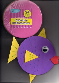 easy foam craft for preschoolers K Crafts, Ocean Crafts, Fish Crafts, Bible School Crafts, Sunday School Crafts, Bible Crafts, Submerged Vbs, Kindergarten Art Projects, Vbs 2016