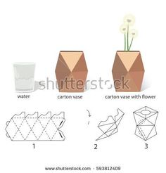 how to assemble a box vase