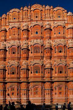 Hawa Mahal, the Palace of Winds, Jaipur, Rajasthan, India #architecture
