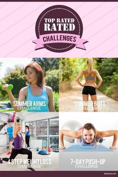 A new month is here! Pick a challenge to kick your fitness up a notch! #fitness #challenges
