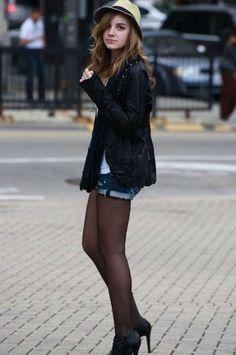 Shorts no inverno com meia-calca