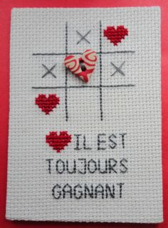 ATC Il est toujours gagnant Christmas Cross, Atc, Cross Stitch Embroidery, Free Pattern, Bullet Journal, Sewing, Jewelry, Cross Stitch Patterns, Envelopes