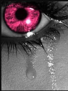 color splash eye + tears