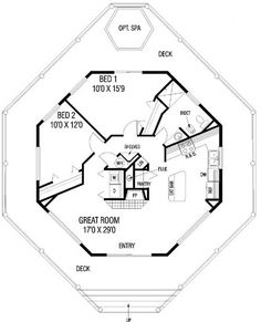 Contemporary House Plan chp-19386 at COOLhouseplans.com….vacation house :)…. guest house ;)