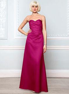 Violetta Fuchsia Satin Bridesmaid Dress