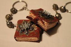 DIY Tutorial - Mini Book Necklaces and Key Chains - great little gifts!