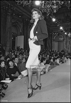 Yves Saint Laurent 1987 Spring/Summer collection fashion show in Paris.