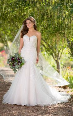 9d89e89bbaf77 Essense of Australia - D2615   Raffiné Bridal Rose Wedding, Mermaid Wedding,  Bridal Boutique