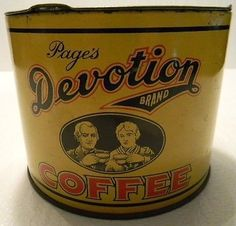 Page's Devotion Brand Coffee