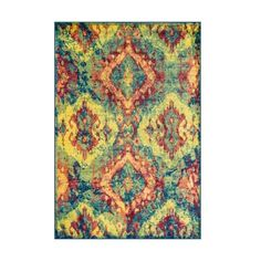 Loloi Rugs Madeline 12TL00 Power Loomed Polypropylene Contemporary (400 CAD) ❤ liked on Polyvore featuring home, rugs, home decor, bright colored area rugs, polypropylene rugs, hand knotted rugs, border area rugs and contemporary rugs