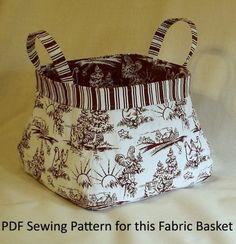 Patrón de coser la tela cesta PDF por KerbaCustomSewing en Etsy