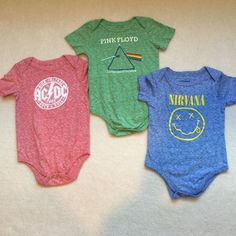 NWOT size 18-24 months New band onesie New never worn three 18-24 month onesies Nirvana Other