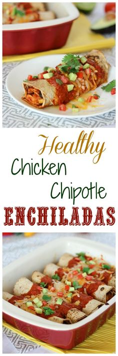 A low carb, low fat chicken chipotle enchilada that's healthy and high in fibre and protein.