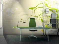 """Un Sorriso > Collezione Decor In ufficio, spazio al colore per """"sorprendere"""" il grigio della routine. #wallpaper #mycollection #room #colour #design #home #office #living #decor #sorriso"""