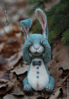 Купить Mr. Bunny - серый, мишка тедди, мишки тедди, мишка ручной работы, зайка