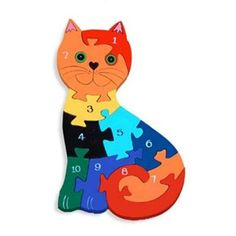 Wooden Jigsaw Puzzles | Wooden cat jigsaw puzzle