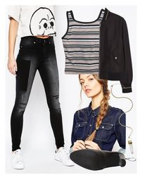 """""""Untitled #1955"""" by moria801 ❤ liked on Polyvore featuring Cheap Monday, ASOS, Everlast, Stuart Weitzman and MANGO"""