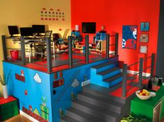 Cool 8-BIT & '80S themed room for kids