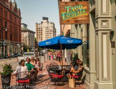 The streets of Portland, Maine