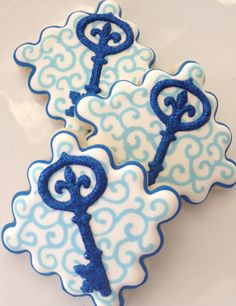 1 Dozen Fancy Key Cookies by SugaredHeartsBakery on Etsy, $36.00