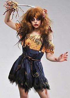 Ladies-Halloween-Zombie-Scarecrow-Costume-Large-UK-14-16
