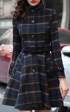 Cupshe Check On It Plaid Coat