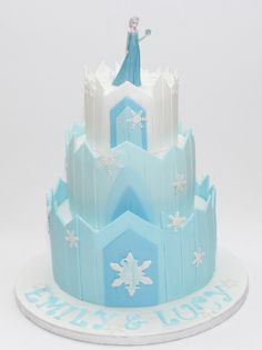 Ice castles, Mountain cake and Castle cakes on Pinterest