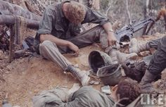 1st Cavalry Division, taking 5 while on patrol in the A Shau valley during Operation Delaware/Lam Son, April 1967-July 1968 ~ Vietnam War