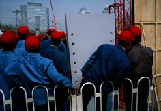 Construction in the region of Lufthansa Plaza. Stuart Franklin, Magnum Photos, Red Aesthetic, Beijing, Construction, Building
