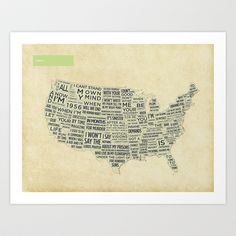 America Art Print by th0ught - $16.00