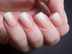 french tip gradient - will do!!:   Chalkboard Nails: 31DC2012: Day 10, Gradient Nails