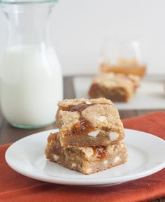 Salted Pumpkin Caramel White Chocolate Cookie Bars by Tracey's Culinary Adventures, via Flickr