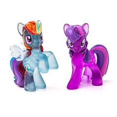 Each bag contains a vinyl mini-figure of a character from My Little Pony: Friendship is Magic. There are 24 ponies in the complete set and each figure comes with a collector's card.
