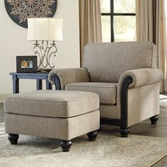Shop for Signature Design by Ashley Blackwood Chair, and other Living Room Arm Chairs at Kamin Furniture in Victoria, Texas. Ashley Furniture, Royal Furniture, Furniture, Chair And Ottoman Set, Traditional Design Living Room, Living Room Furniture Chairs, Couches Living Room, Taupe Chair, Transitional Furniture