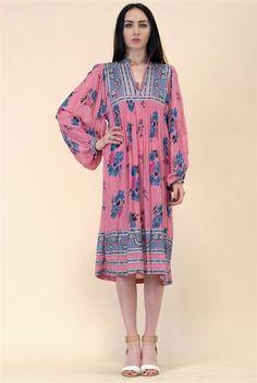 Larkspur Indian Gauze Dress