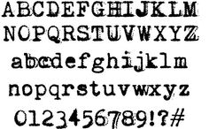Vera Type #fonts #typography #webdesign #typewriter