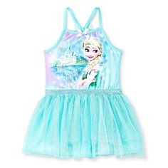 Frozen Elsa Baby Girls' Tutu Dress - Green 12M, Infant Girl's